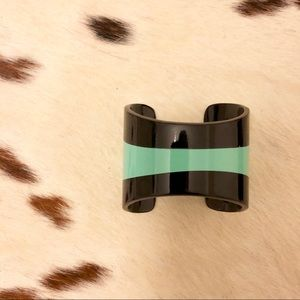 Jewelry - Horn and Lacquer Stripe Cuff Bracelet